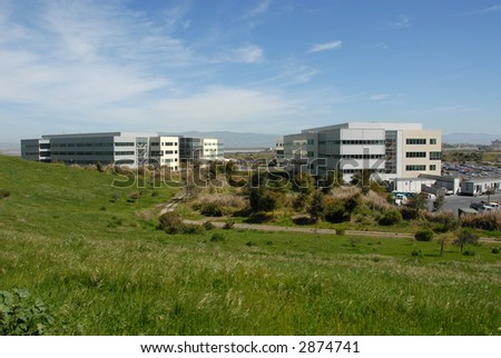 Silicon Valley office park, Mountain View, California - stock photo