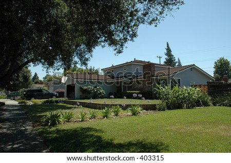 Silicon Valley residence, Sunnyvale, California - stock photo