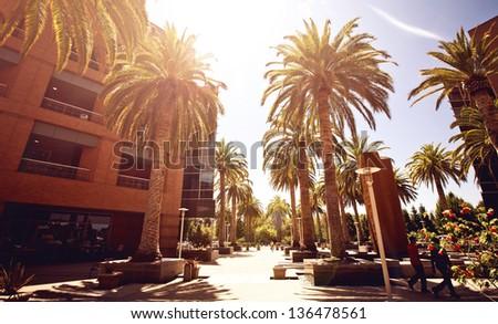 Silicon Valley streetview - stock photo