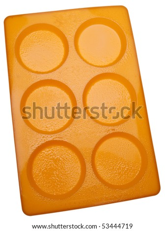 Silicone Baking Pan for Making Muffin Tops Isolated on White with a Clipping Path. - stock photo