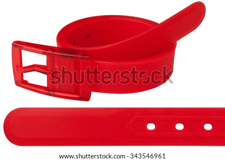Silicone belt red color