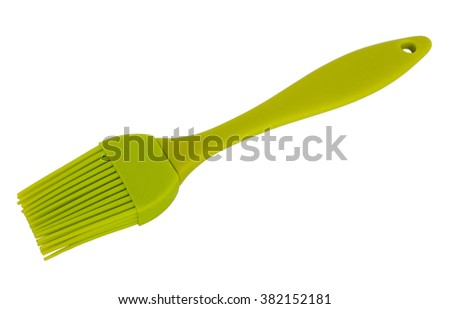 Silicone brush for kitchen isolated on white background - stock photo