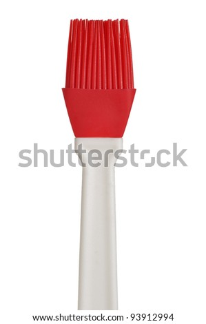 Silicone Pastry Brush on White Background - stock photo