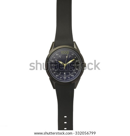 Silicone watch wristband - stock photo