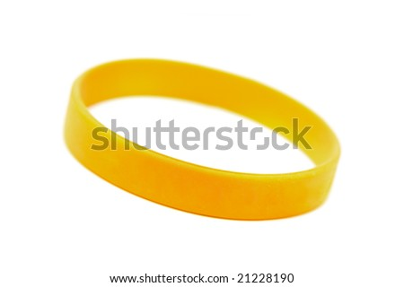 "silicone wristband, bracelet on the white background ""wish of "" (isolated with clipping path) - stock photo"