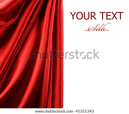 Silk Border - stock photo