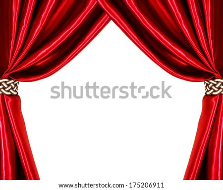 Silk curtains. isolated on white background