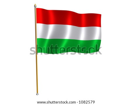 Silk flag of Hungary