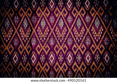 Silk handicraft close up,Fabric fashion design,Beautiful fabric pattern background