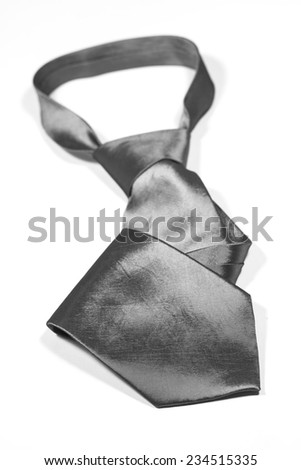 Silk necktie isolated on white background - stock photo
