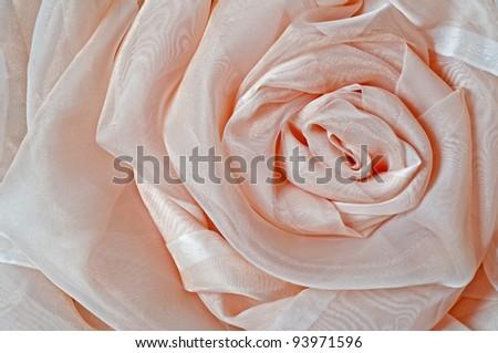 Silk rose - stock photo