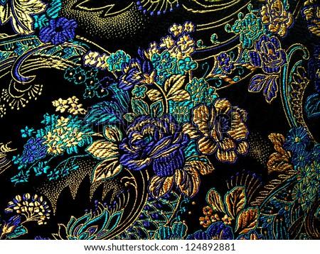 Silk textile background - stock photo