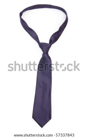 Silk tie isolated on the white background - stock photo