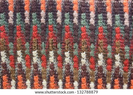 Silk woven into a beautiful pattern - stock photo