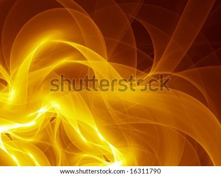 Silken Gold Smoke - Fractal Illustration - stock photo