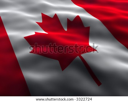 Silky Canada Flag - stock photo