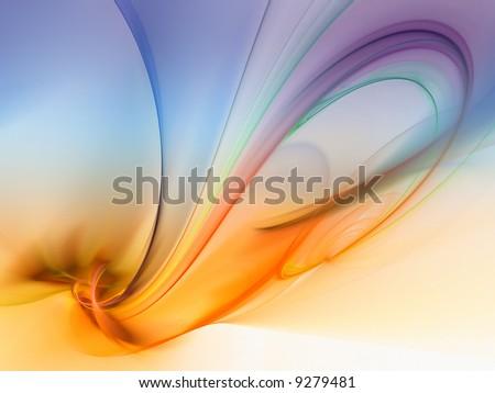 silky fractal - stock photo