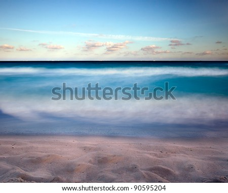 Silky smooth sea water - stock photo