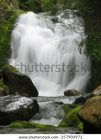 Silky smooth waterfall - stock photo