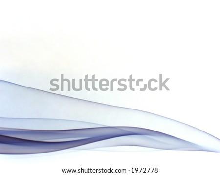 silky violet smoke trails, on white background - stock photo