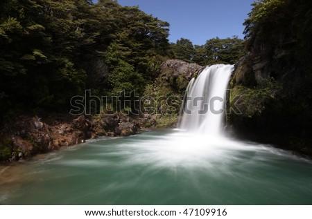 Silky Waterfall - stock photo