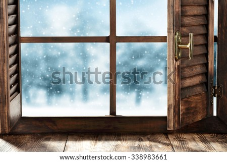 sill and window  - stock photo