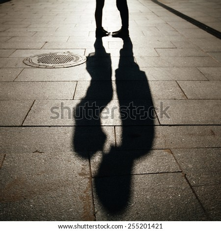 sillhouette couple love - stock photo