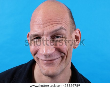 Silly Faced Man - stock photo