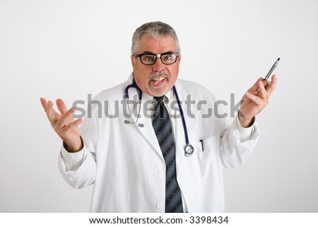Silly looking Doctor with buck theeth and horn rim glasseseats Me!! - stock photo