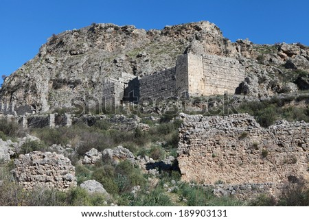 Sillyon Ancient City, Antalya.