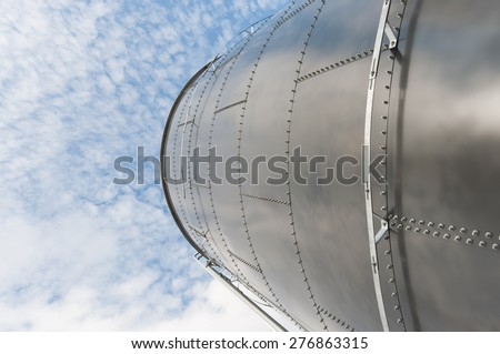 Silo and the sky - stock photo