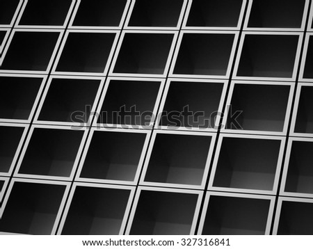Silver abstract cubes background rendered