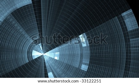 silver abstract fractal compass or speedometer - stock photo