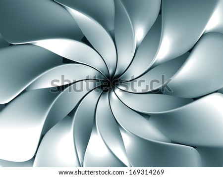 Silver abstract windmill background 3d illustration - stock photo