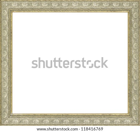 silver art picture frame - stock photo