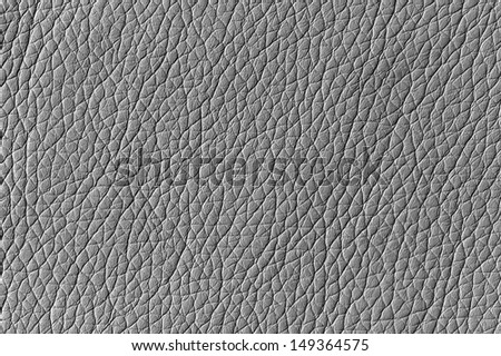 Silver Artificial Leather Background Texture - stock photo