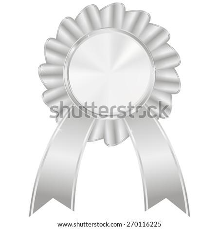 Silver award badge.  isolated on white background. Raster version - stock photo