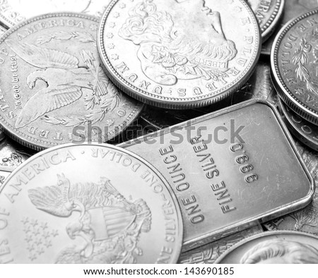 Silver background - stock photo