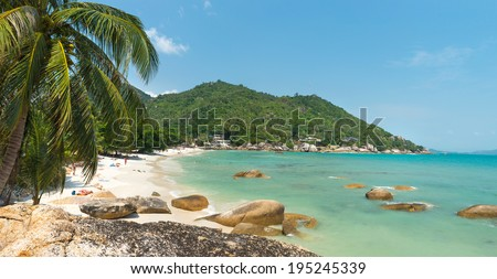 Silver beach, Crystal Beach beach view at Koh Samui Island Thailand   - stock photo