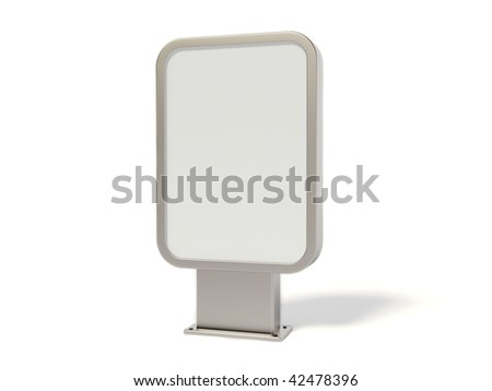 silver bilboard on white background - stock photo