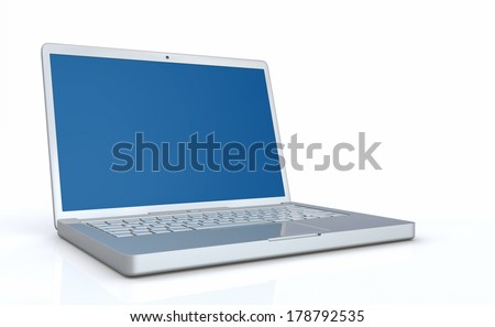 Silver blue laptop 6