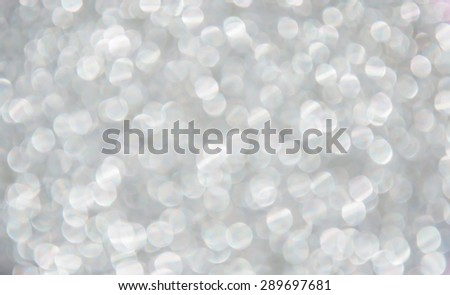 silver bokeh background - stock photo