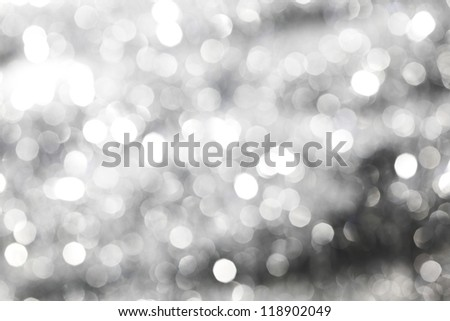 silver bokeh background macro close up - stock photo