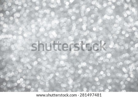 Silver bokeh lights abstract background - stock photo