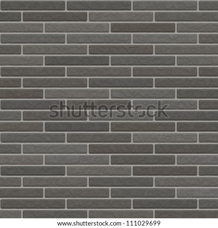 silver brick wall background - stock photo