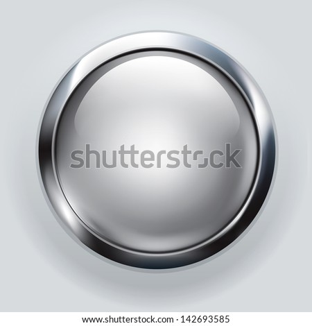 silver button background - stock photo
