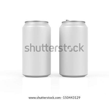 Silver Can Isolated