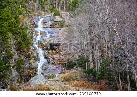 Silver Cascade - Hart's Location, New Hampshire - stock photo