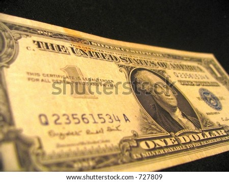 silver certificate - stock photo