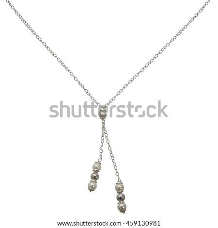 Silver chain on white background